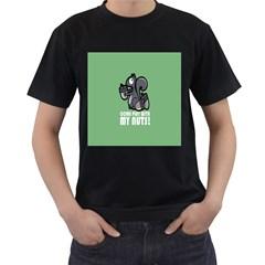 Pet Squirrel Green Nuts Men s T-Shirt (Black)