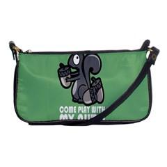 Pet Squirrel Green Nuts Shoulder Clutch Bags