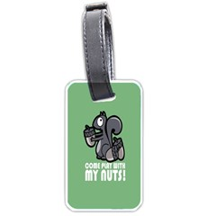Pet Squirrel Green Nuts Luggage Tags (One Side)