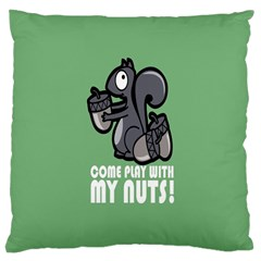Pet Squirrel Green Nuts Large Cushion Case (Two Sides)