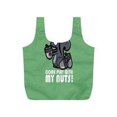Pet Squirrel Green Nuts Full Print Recycle Bags (S)