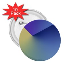 Purple Yellow 2.25  Buttons (10 pack)