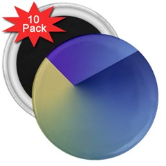 Purple Yellow 3  Magnets (10 pack)