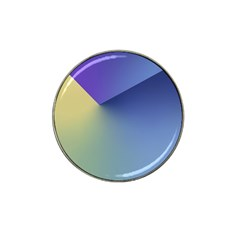 Purple Yellow Hat Clip Ball Marker (10 pack)