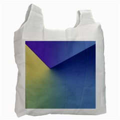 Purple Yellow Recycle Bag (Two Side)