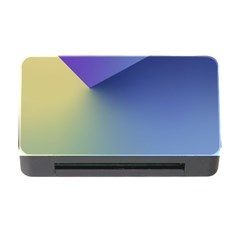 Purple Yellow Memory Card Reader with CF