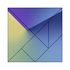 Purple Yellow Acrylic Tangram Puzzle (6  x 6 )