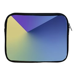 Purple Yellow Apple iPad 2/3/4 Zipper Cases