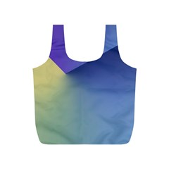 Purple Yellow Full Print Recycle Bags (S)