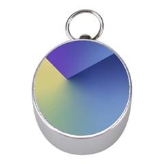 Purple Yellow Mini Silver Compasses