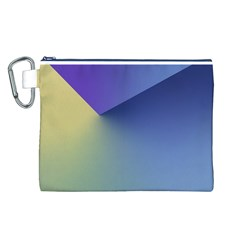 Purple Yellow Canvas Cosmetic Bag (L)