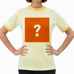 Question Mark Women s Fitted Ringer T-Shirts