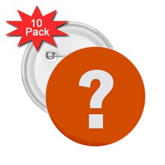 Question Mark 2.25  Buttons (10 pack)