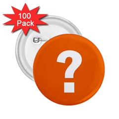 Question Mark 2.25  Buttons (100 pack)