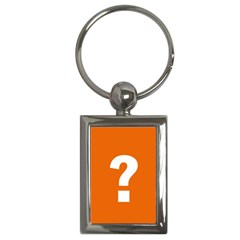 Question Mark Key Chains (Rectangle)