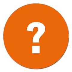 Question Mark Magnet 5  (Round)