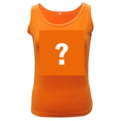 Question Mark Women s Dark Tank Top