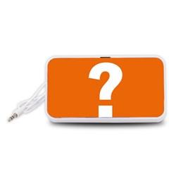 Question Mark Portable Speaker (White)
