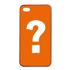 Question Mark Apple iPhone 4/4s Seamless Case (Black)