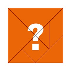 Question Mark Acrylic Tangram Puzzle (6  x 6 )