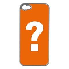 Question Mark Apple iPhone 5 Case (Silver)
