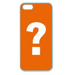 Question Mark Apple Seamless iPhone 5 Case (Color)