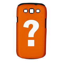 Question Mark Samsung Galaxy S III Classic Hardshell Case (PC+Silicone)