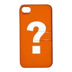 Question Mark Apple iPhone 4/4S Hardshell Case with Stand
