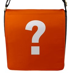 Question Mark Flap Messenger Bag (S)