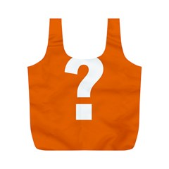 Question Mark Full Print Recycle Bags (M)