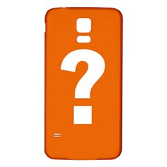 Question Mark Samsung Galaxy S5 Back Case (White)