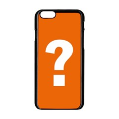 Question Mark Apple iPhone 6/6S Black Enamel Case