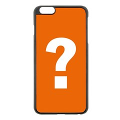 Question Mark Apple iPhone 6 Plus/6S Plus Black Enamel Case