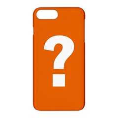 Question Mark Apple Iphone 7 Plus Hardshell Case