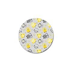 Owl Bird Yellow Animals Golf Ball Marker (10 pack)