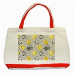 Owl Bird Yellow Animals Classic Tote Bag (Red) Front