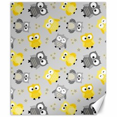 Owl Bird Yellow Animals Canvas 20  x 24