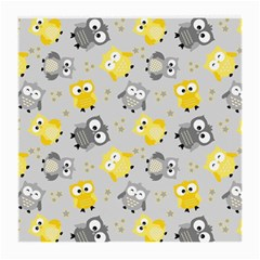 Owl Bird Yellow Animals Medium Glasses Cloth