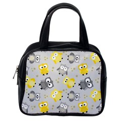 Owl Bird Yellow Animals Classic Handbags (One Side)