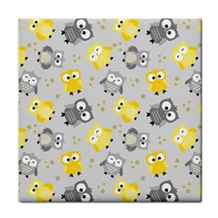 Owl Bird Yellow Animals Face Towel