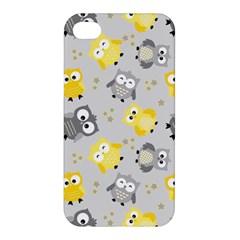 Owl Bird Yellow Animals Apple iPhone 4/4S Hardshell Case