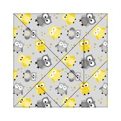 Owl Bird Yellow Animals Acrylic Tangram Puzzle (6  x 6 )