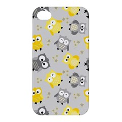 Owl Bird Yellow Animals Apple iPhone 4/4S Premium Hardshell Case