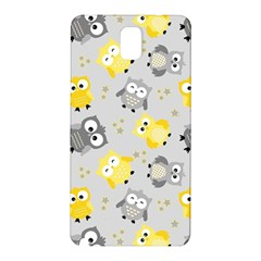 Owl Bird Yellow Animals Samsung Galaxy Note 3 N9005 Hardshell Back Case