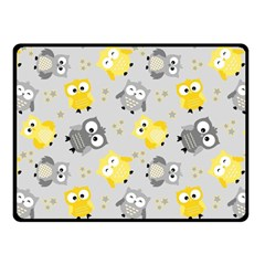 Owl Bird Yellow Animals Double Sided Fleece Blanket (Small)