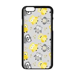 Owl Bird Yellow Animals Apple iPhone 6/6S Black Enamel Case