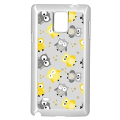 Owl Bird Yellow Animals Samsung Galaxy Note 4 Case (white)