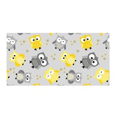 Owl Bird Yellow Animals Satin Wrap