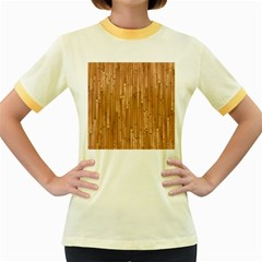 Parquet Floor Women s Fitted Ringer T-Shirts