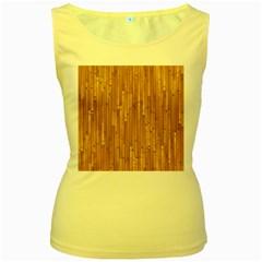 Parquet Floor Women s Yellow Tank Top
